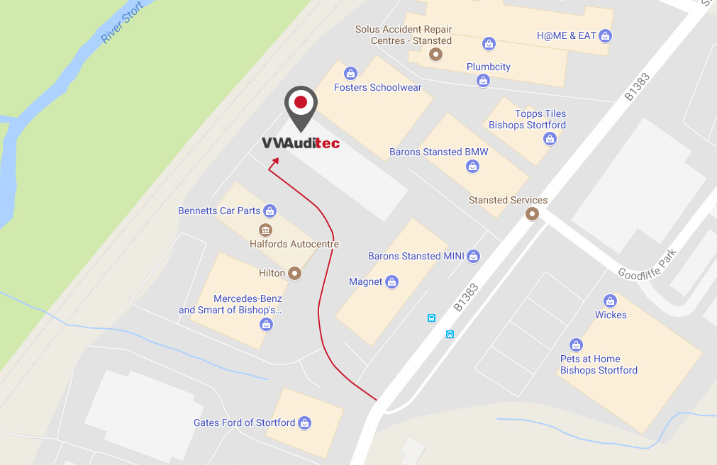 Directions to our Bishop's Stortford VW & Audi garage