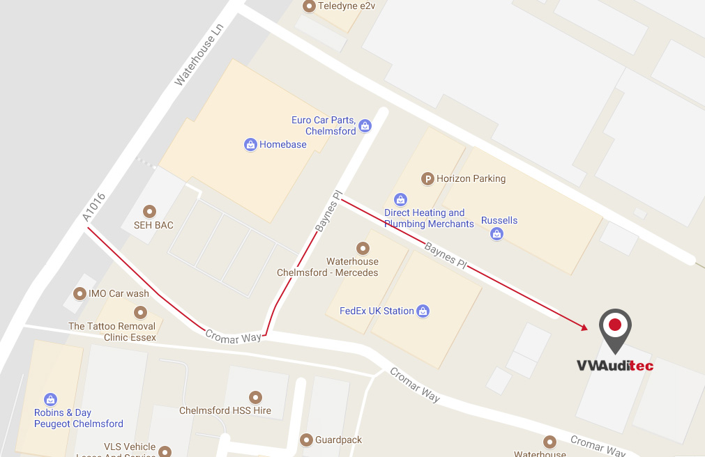 Directions to our Chelmsford VW & Audi garage